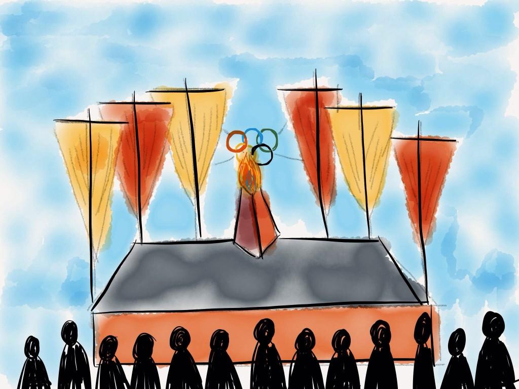 Olimpiada Vuela - Concepto de escenario