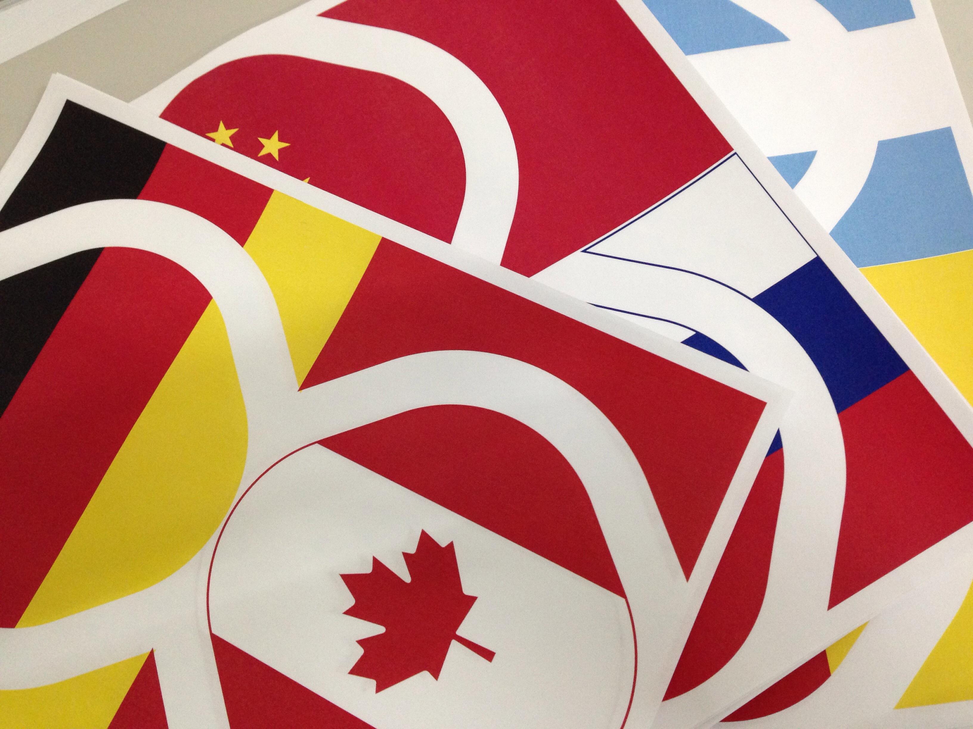 Olimpiada Vuela - Banderas para la porra